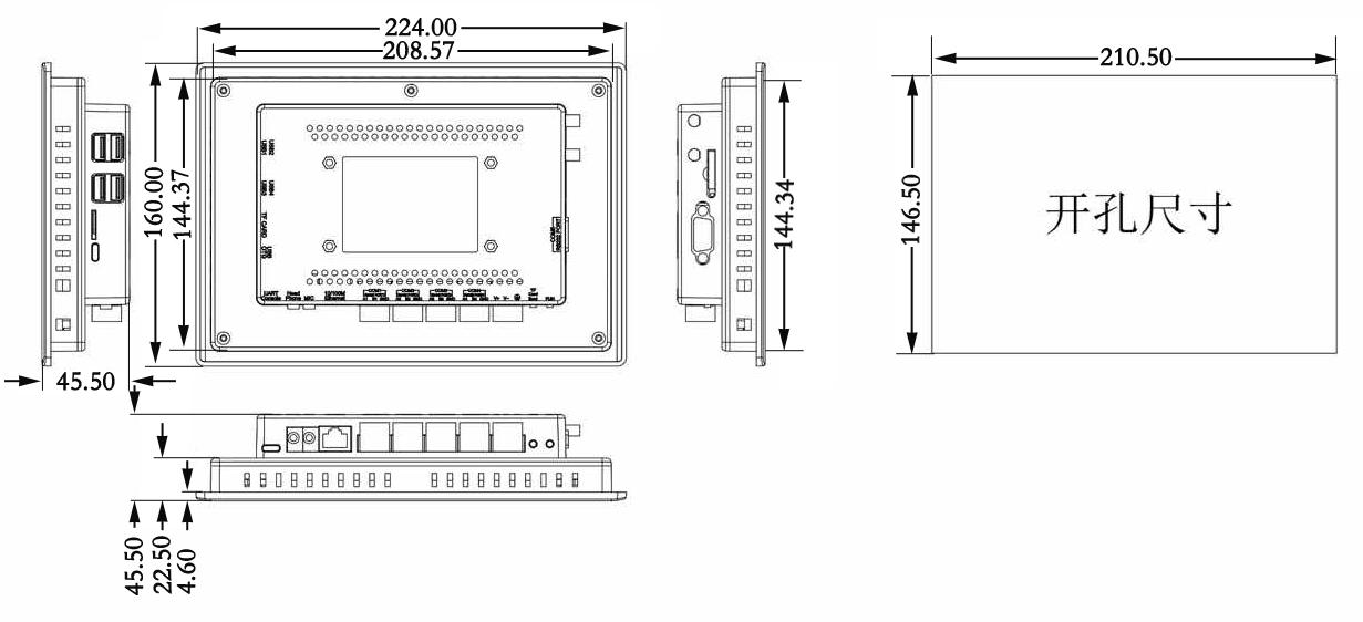 上海迅饶7寸楼控触摸屏(型号W7-1041)
